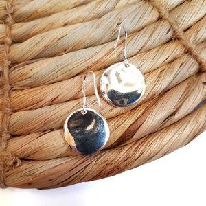 Round 925 Sterling Silver Dangle Earrings